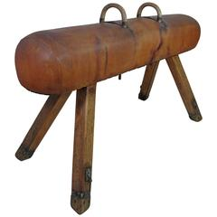 Antique Gymnastics Pommel Horse from 1930s