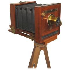 Scovill MFD Co Large Format Wood Camera with Tripod and Case