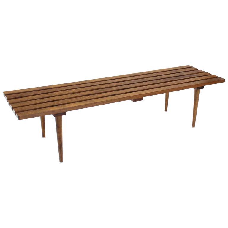 Nice Danish Slat Bench At 1stdibs