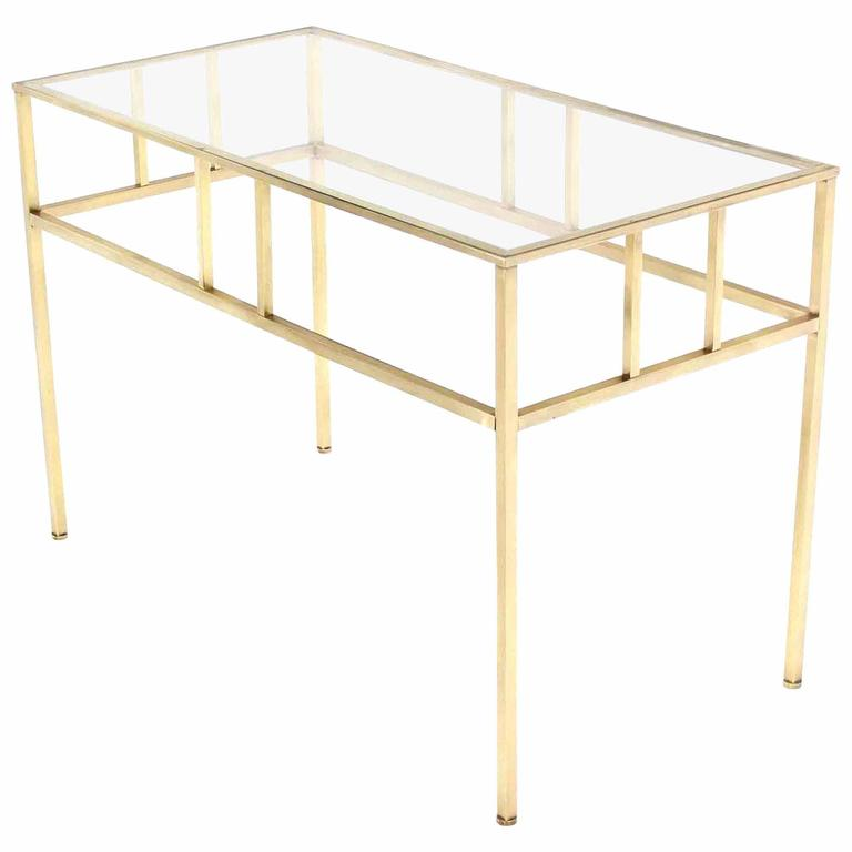 Modern Solid Brass Rectangular Side Table