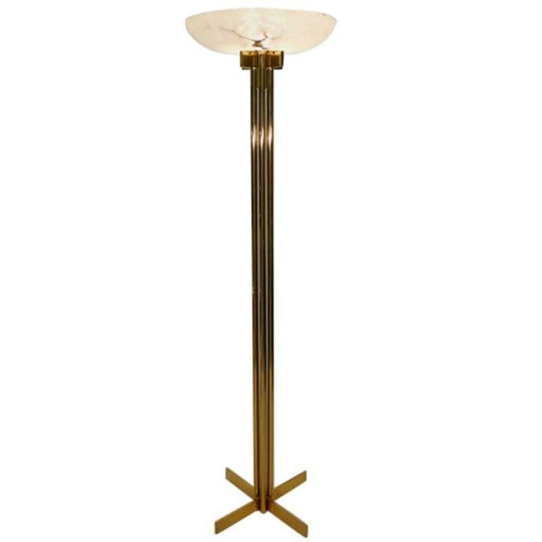 Bronze And Alabaster Casella Floor Lamp 1970s For Sale At