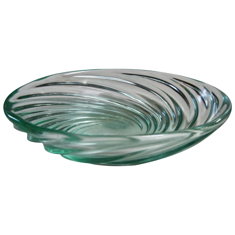 """Archimede Seguso Bowl """"Vetro a COSTA,"""" Murano, 1951"""