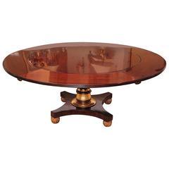 19th Century Regency Mahogany and Parcel-Gilt Dining Table