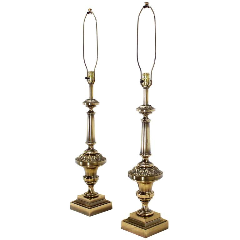 Pair of Brass Stiffel Table Lamps