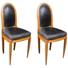Elegant Pair of Side Chairs in the Style of Paul Follot