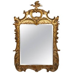 18th Century Carved Chinoiserie-Style Wall Mirror
