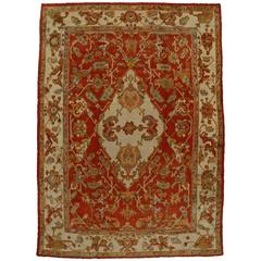Antique Turkish Oushak Rug with Traditional Modern Style