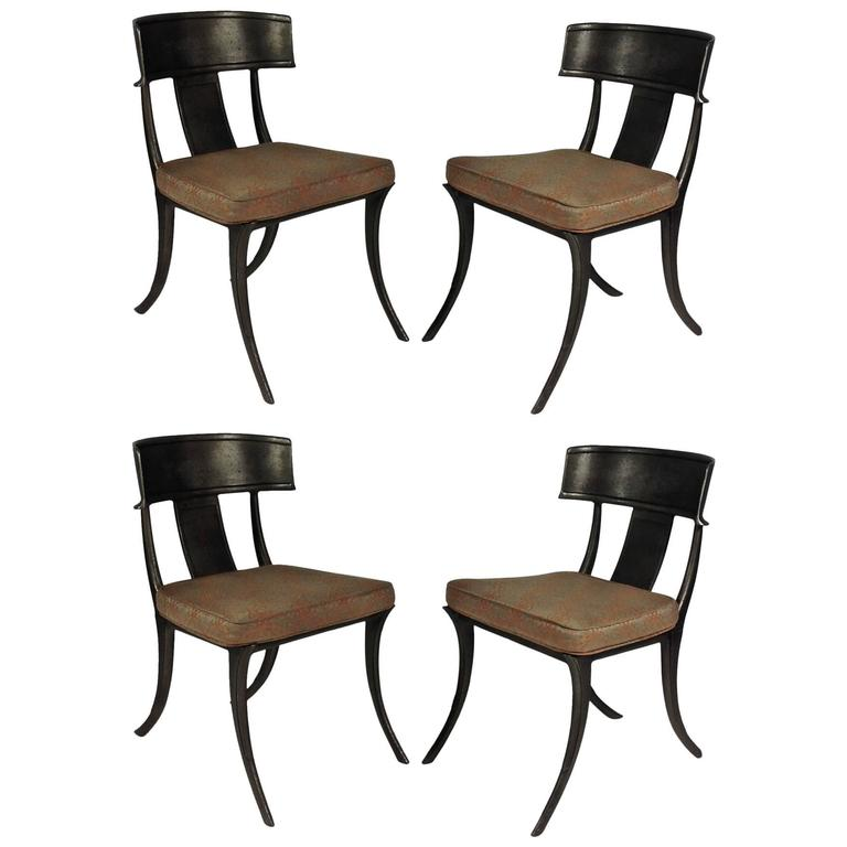 set of four michael taylor klismos chairs at 1stdibs