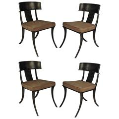 Set of Four Michael Taylor Klismos Chairs