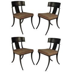 Set of Four Michael Taylor Klismos Chairs