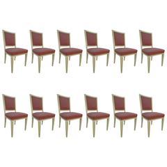 Bellevue Palace Dining Chairs by Carl-Heinz Schwennicke, Set of 12