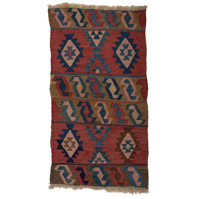 "Old Kilim ""Mafrash"" Shahsavan, Suitable For Table Or Wall"