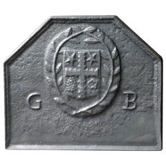 20th Century French Coat of Arms Fireback