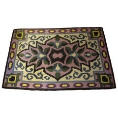 French Art Deco Geometric Rug in the Style of Jules Leleu