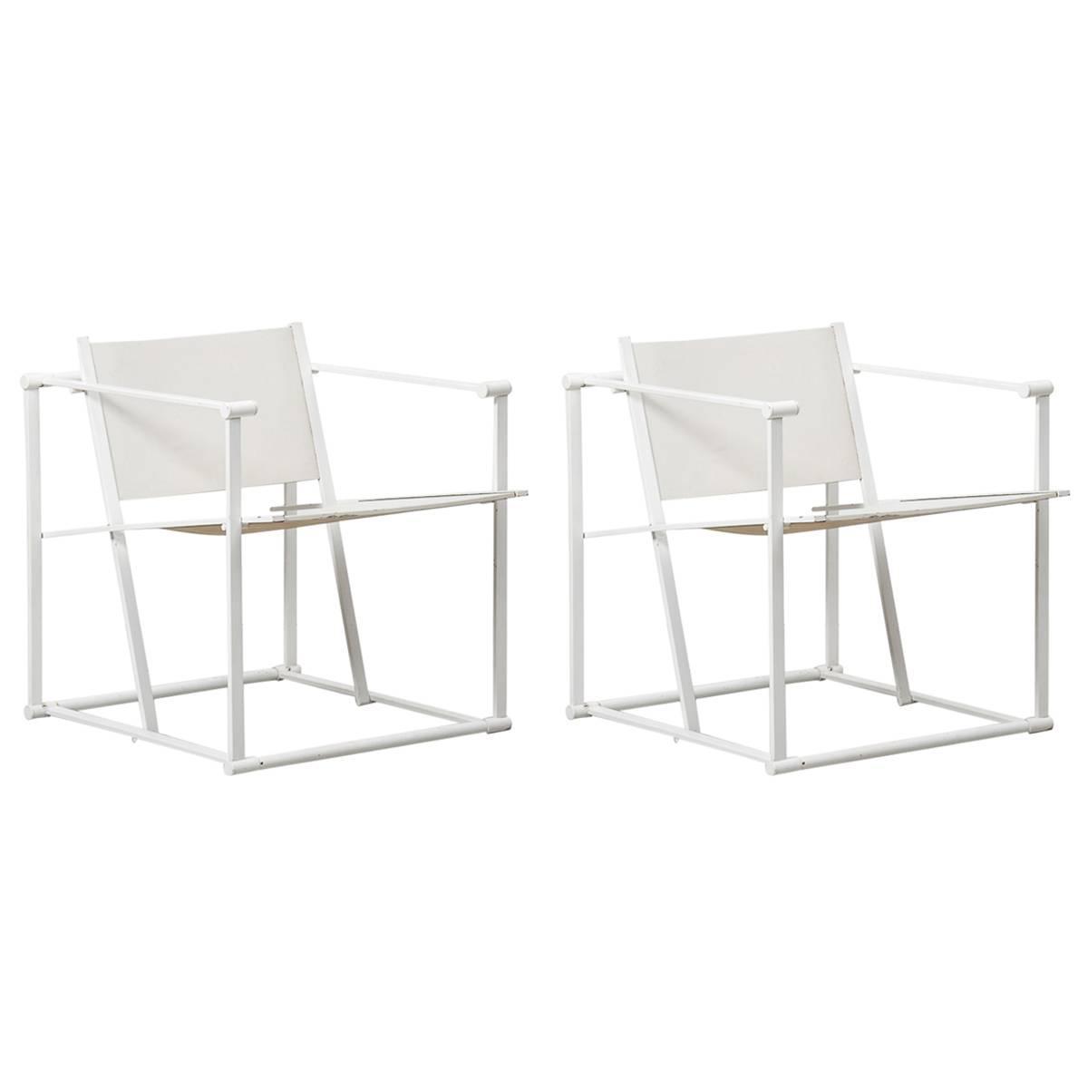 Radboud Van Beekum White Fm61 Cube Chairs For Pastoe