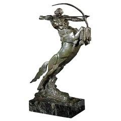 'Centaur' Art Deco Bronze by Francois Bazin, 1924