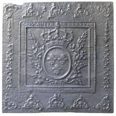 18th Century Fireback with Arms of France