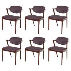 Kai Kristiansen No. 42 Dining Chairs, Set of 8