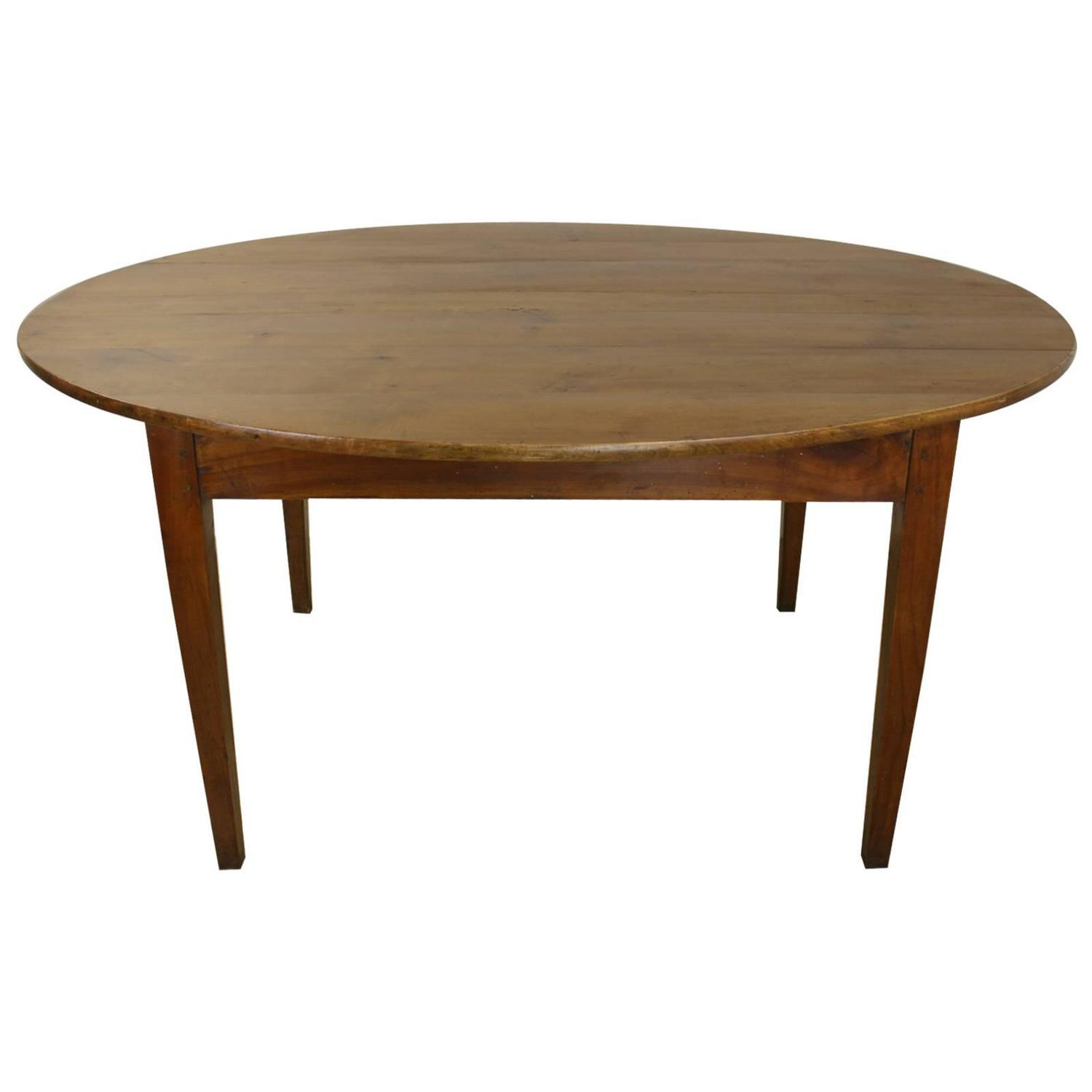 Antique french oval cherry dining table for sale at 1stdibs for Cherry dining table