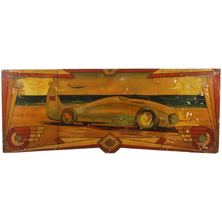 Early Carnival Futuristic Auto Hand-Painted Rounding Board 1