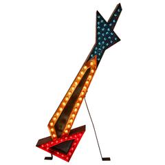 Large Lighted Advertising Arrow, circa 1940s