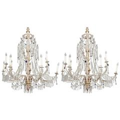 Pair of Early 19th Century Genoa Chandeliers
