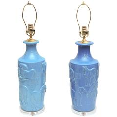Outstanding Turquoise Chinese Lamps
