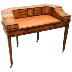 Fine 19th Century English Adam Style Carlton House Desk