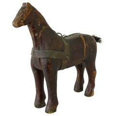 Small Antique Swedish Horse, Original Paint