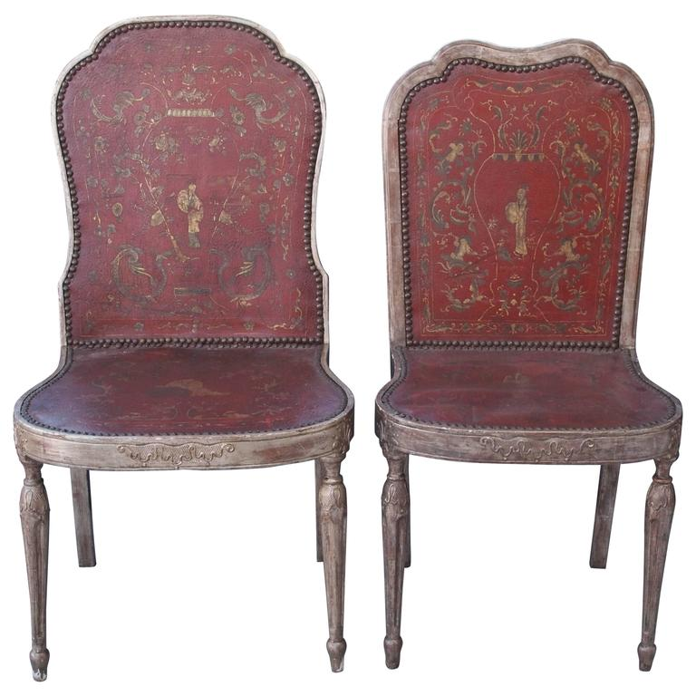 Two Dogwood Dining Chairs With Saddle Leather Seats At 1stdibs