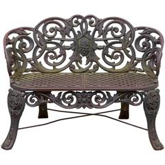 "20th Century American Cast Iron ""Scroll Settee"""