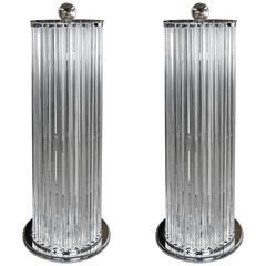 Pair of Floor Lamps in Murano Glass