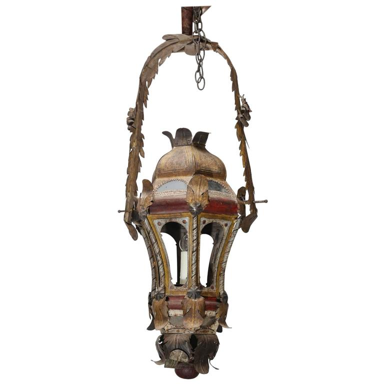 18th Century Italian Processional Lanterns With Original Paint