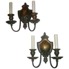 Caldwell Bronze Two Lights Sconces