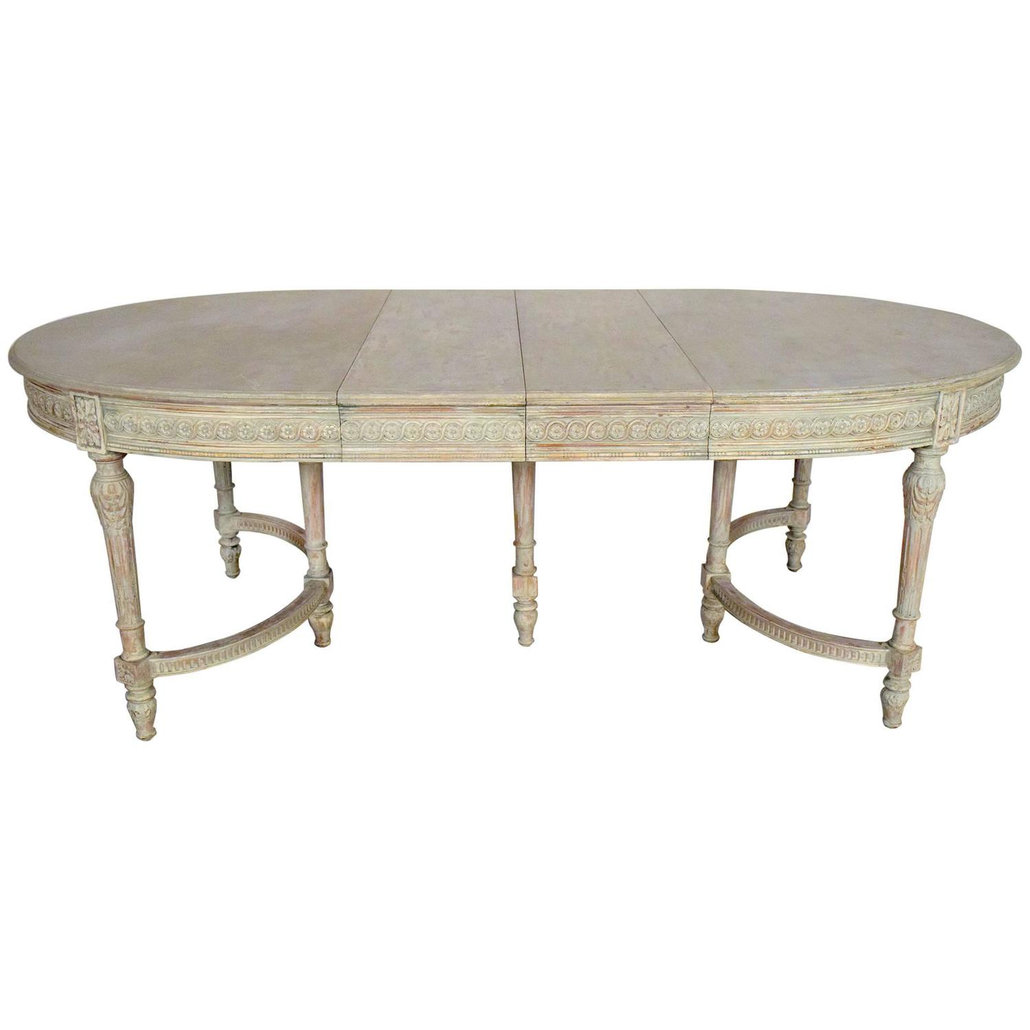 Long Dining Table in Louis XVI Style at 1stdibs
