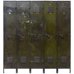 Vintage Set of Industrial Lockers by Manufacturing Equipement
