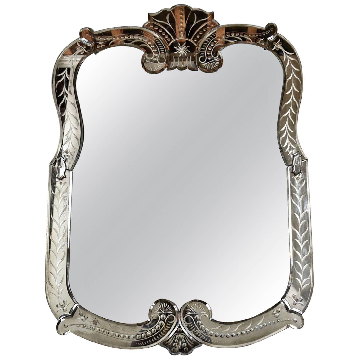 Italian Venetian Wall Mirror At 1stdibs