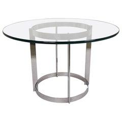 Mid-Century Modern Chrome Circular Dining Table
