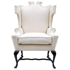 Arturo Pani Fanciful Wing Chair in Tussah Silk