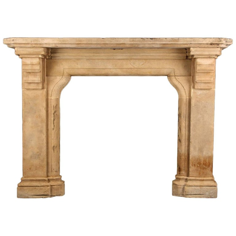 Grand Antique Gothic Tudor Revival Fireplace Mantel, English, 19th Century
