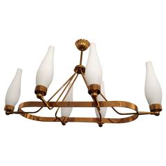 French 1960s Regency Chandelier