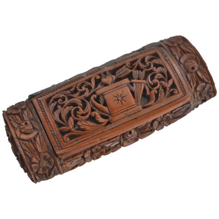 19th Century Tagua Nut Snuffbox