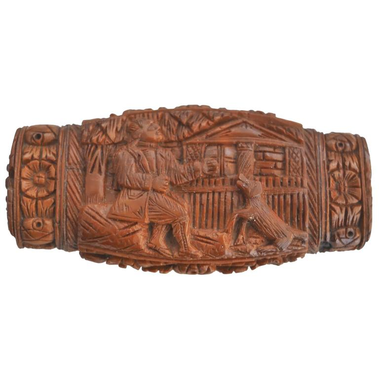 19th Century Tagua Nut Snuff Box