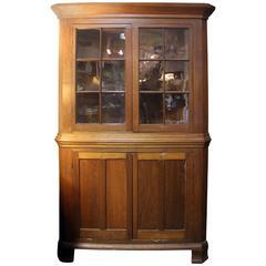 Primitive American Corner Cupboard