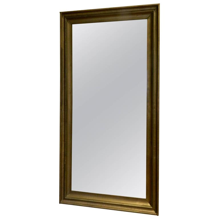Large Painted Wood Mirror, 20th Century