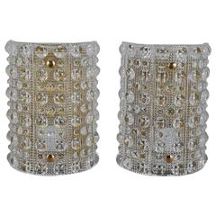 Pair of Large Wall Lights by Orrefors
