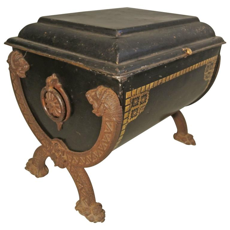 Unusual english antique painted coal scuttle from the 19th for Quirky items for sale