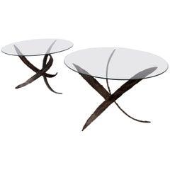 Pair of Midcentury Paul Evans Style End Tables