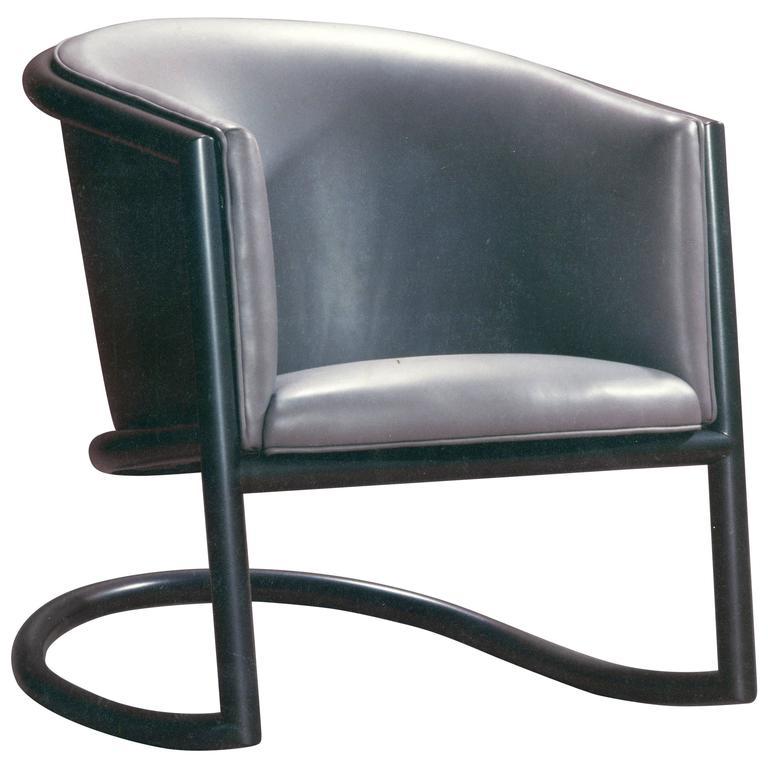 Tubular Steel Rocking Chair by David N Ebner
