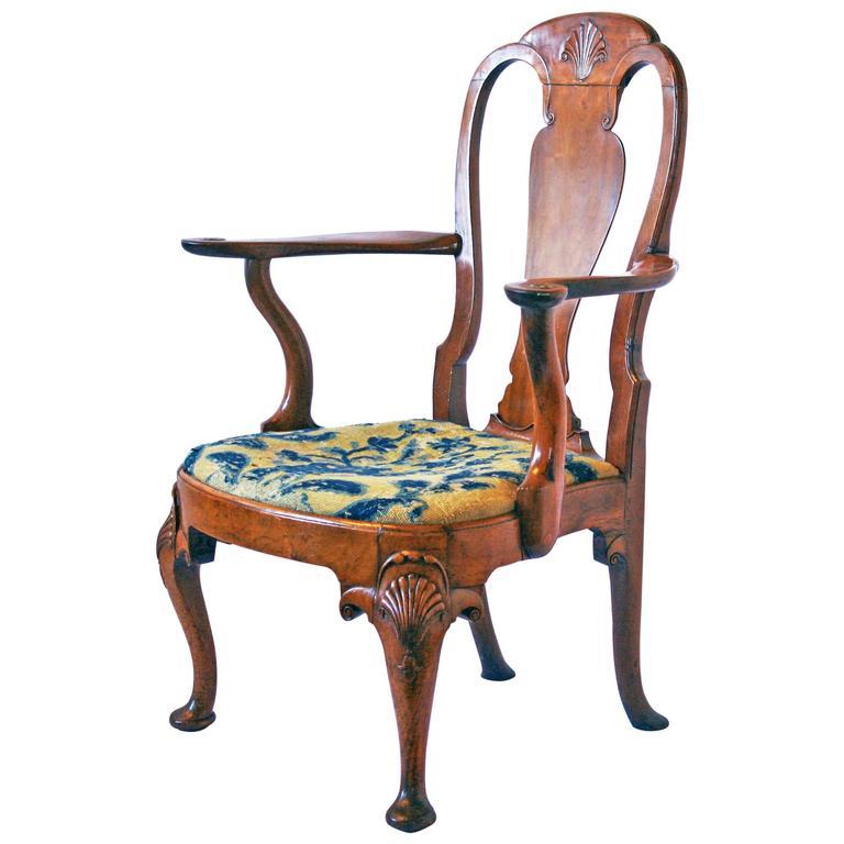 18th Century George I Walnut Armchair 1